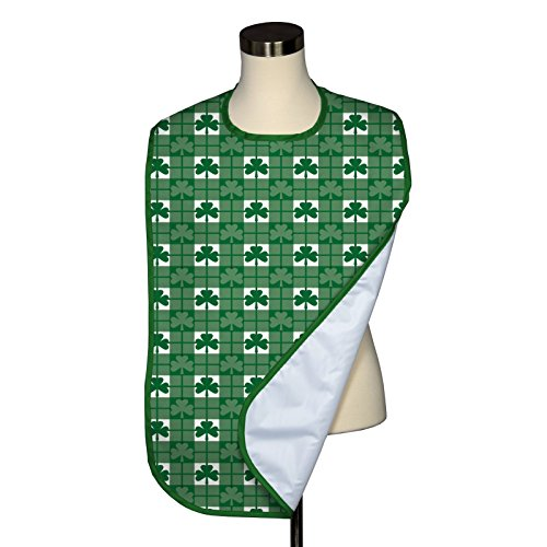 Shamrock Check Adult Bib - Covered with Care - 5 Pack