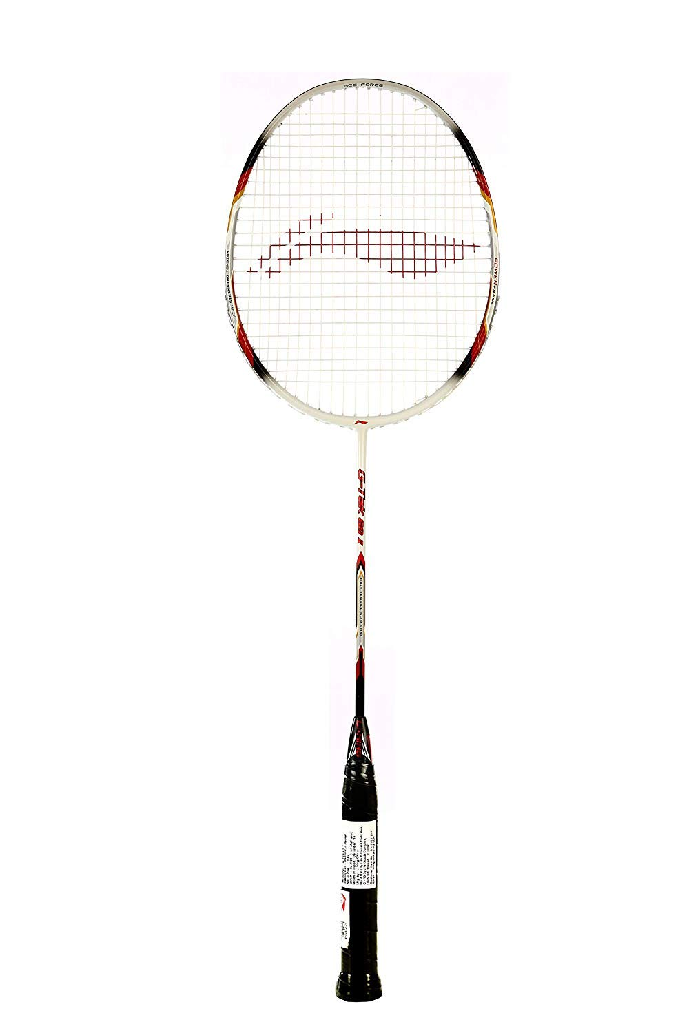 LI-NING Badminton Racket G-Tek Series Player Edition Light Weight Carbon Graphite Shaft 80+ GMS with Full Carrying Bag Cover (60 II White)