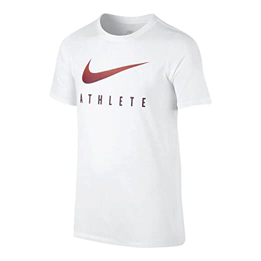 67879698 Amazon.com: Nike Boys' Dry Swoosh Athlete Graphic T-Shirt (Small ...