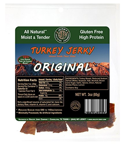 Cheap Healthy Jerky Original Turkey Jerky, 3 ounce (2 Pack)