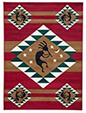 Rugs 4 Less Collection Southwest Native American Indian Dancing Kokopelli Area Rug in Red Kokopelli (5'x7')