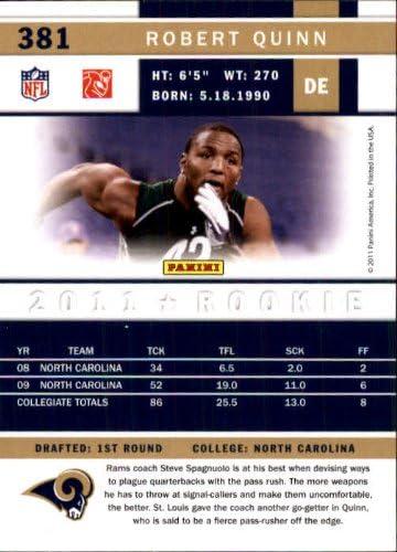 2011 Score Football Rookie Card #381 Robert Quinn