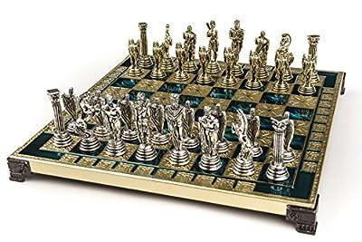 Marinakis Handmade Icarus Metal Chess Set In Wooden Box