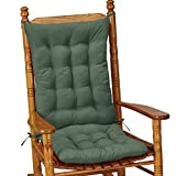 Collections Etc Quilted Rocking Chair Cushion Set, Green