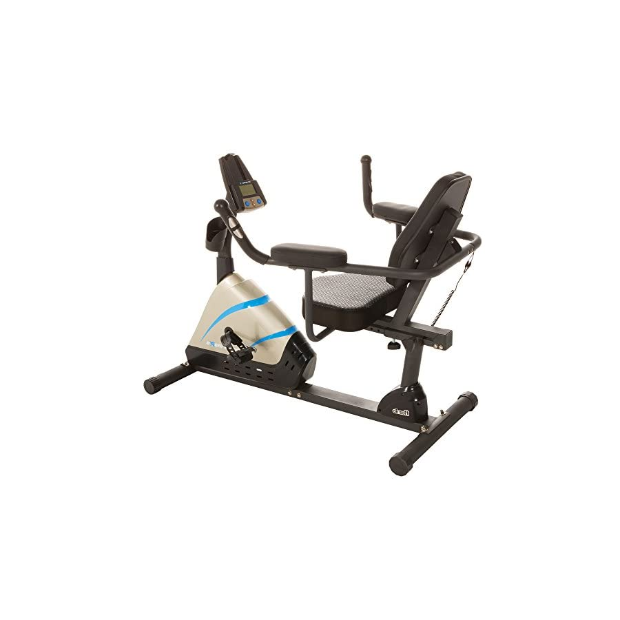 Exerpeutic 2000 High Capacity Programmable Magnetic Recumbent Bike with Air Soft Seat and Heart Pulse Sensors