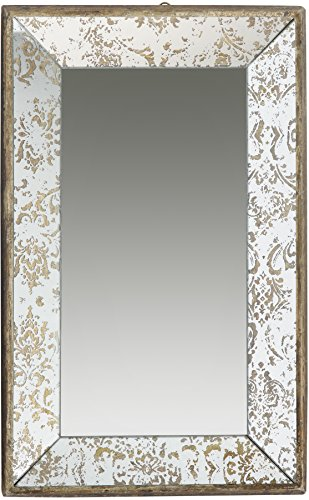 A B Home 20 by 12-Inch Antique Style Frameless Wall Mirror Tray