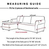 WOMACO L Shape Sofa Covers Sectional Sofa Cover 2