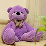 Joyfay Purple Giant Teddy Bear- Big Teddy Bear 63 Inches (5 Feet!), Cuddly and Huggable, a Companion Made of Top-Notch Material.