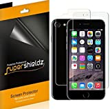 Supershieldz for Apple iPhone 8 / iPhone 7 [Front + Back] Full Body Screen Protector, Anti-Bubble High Definition Clear Screen Shield -Lifetime Replacements Warranty [3 Front and 3 back]