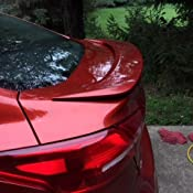 Painted Spoiler For 15-16 Ford Focus Sedan Bolt on ABS Rear Trunk PQ RACE RED
