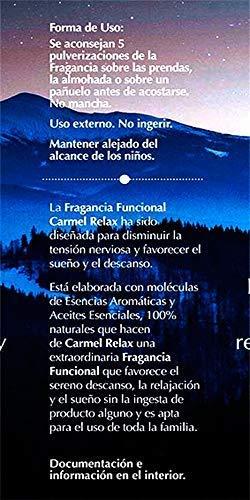 Fragancia Funcional Carmel Relax. Ayuda a relajarse, descansar y dormir con moléculas de 13 Aceites Esenciales. Producto 100% natural. 50ml.