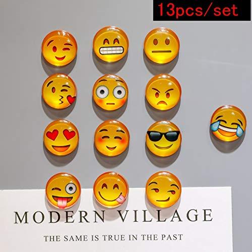 Juego de 10 imanes para nevera, diseño de emoji: Amazon.es: Hogar
