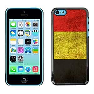 ROKK CASES / Apple Iphone 5C / GERMANY GERMAN GRUNGE FLAG / Delgado Negro Plástico caso cubierta Shell Armor Funda Case Cover