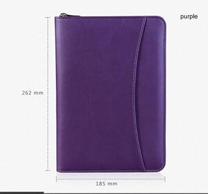 Amazon.com : Qazpl Notebook A5 Zipper Spiral Leather Travel ...