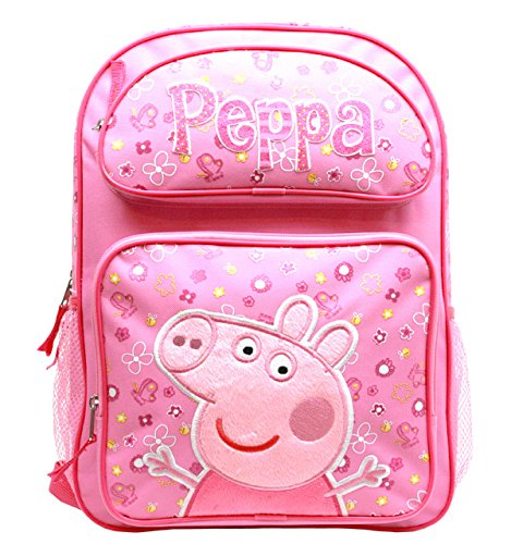Mochila - Peppa Pig - Rosa Flores 16