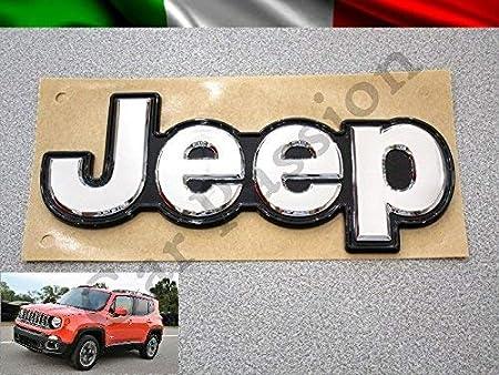 Scritta Stemma Logo Jeep Renegade Posteriore Originale Cromato