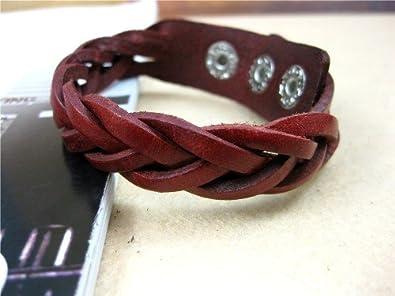 Jirong Leather Bracelets - Adjustable Wristband - Great For Men, Women, Teens, Boys, Girls Sl2 Girls Sl2 (Red)