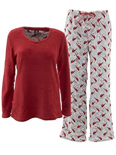 Donna L'oren Women's Cardinals Red Fleece Pajamas XL