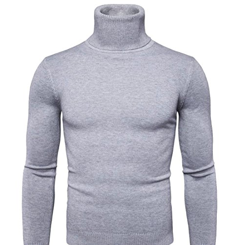 discount Gocgt Mens Winter Long Sleeve Turtleneck Pullover Blouse Sweaters