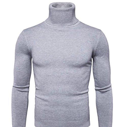 discount Gocgt Mens Winter Long Sleeve Turtleneck Pullover Blouse Sweaters