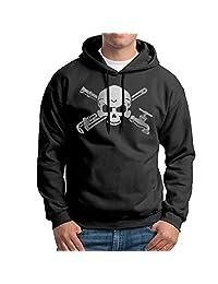 Men's Plumber Skull Cross Wrenche Platinum Style Sweatshirt Hoodie