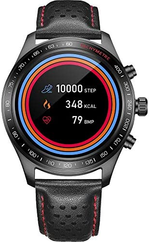Smart Watch for Men Smartwatch with Heart Rate Monitor / Activity Tracker / Sleep Monitor / Bluetooth Music Control Weather Call/SMS Reminder IP68 Waterproof Fitness Sports Pedometer Watch for Android & iOS (BLACK) 51AhV4nyNxL