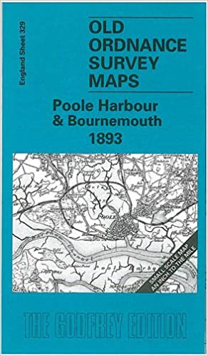 Poole England Map.Poole Harbour And Bournemouth 1893 One Inch Map 329 Old Ordnance