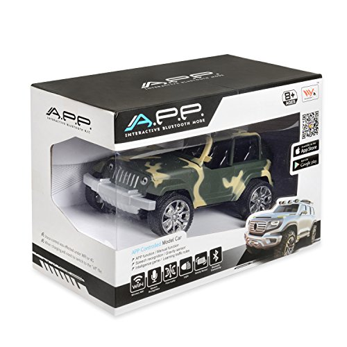 Tes Toys BT APP Remote Controlled Jeep Truck, Interactive Bluethooth Mode, With speech Recognition