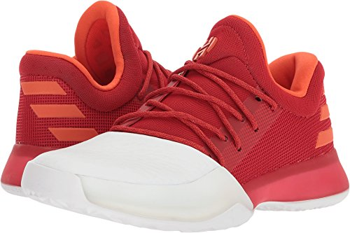 Price comparison product image adidas Kids Unisex Harden Vol. 1 (Big Kid) Footwear White/Scarlet/Silver Metallic 3.5 M US Big Kid