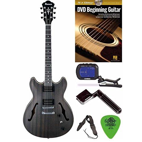 Ibanez AS53 Artcore Semi-Hollow Electric Guitar (Black) Bundle