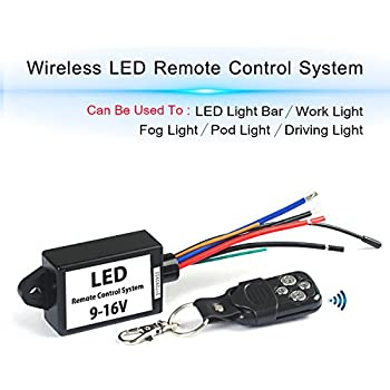 led light bar remote wiring harness/wireless remote wiring harness for led  light bar/