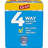 Glad Tall Kitchen Drawstring Trash Bags - ForceFlexPlus 13 Gallon White Trash Bag, OdorShield - 110 Count