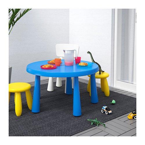 Ikea Mammut Tavolo per Bambini per Interni ed Esterni Blu 903.651.80/Taglia 33/1//2