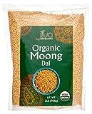 Jiva USDA Organic Moong Dal Yellow - 2 Pound (Split Mung Beans Washed)