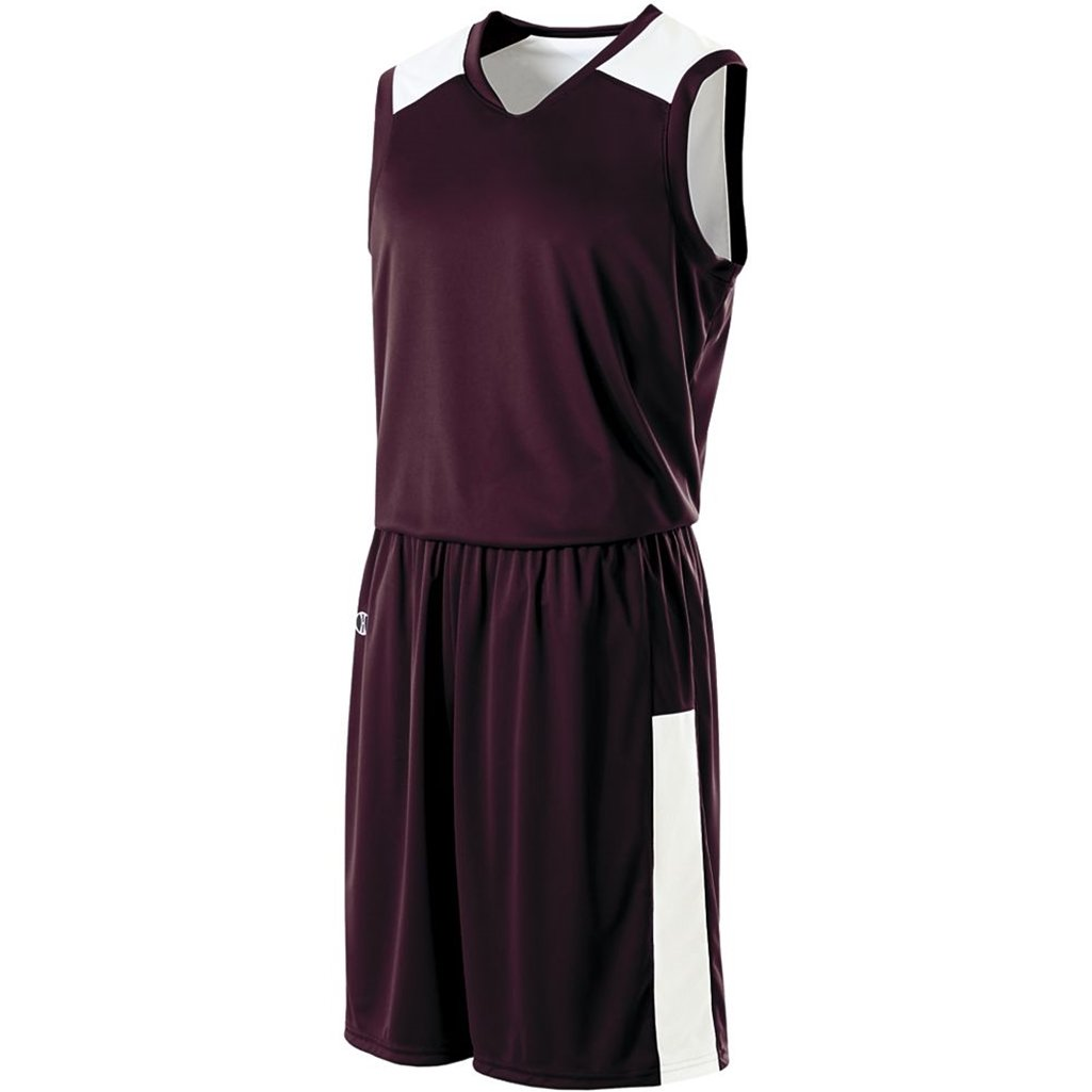 Holloway Ladies Reversible Nuclear Jersey (Medium, Dark Maroon/White) by Holloway