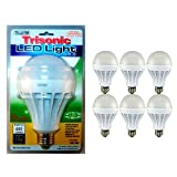 6 LED Light Bulbs Daylight 15 Watt Energy Saver 125 W Replacement Lamp Home Bulb