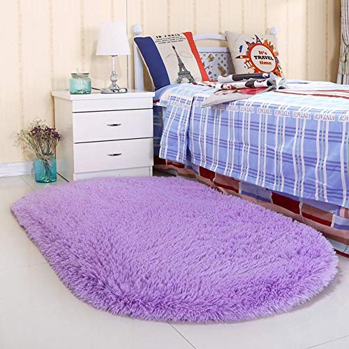 Noahas Ultra Soft 4.5cm Velvet Bedroom Rugs Kids Room Carpet Modern Shaggy Area Rugs Home Decor 2.6' X 5.3', Purple ()