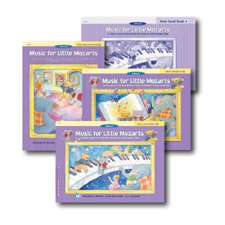Music for Little Mozarts Level 4 - Piano Curriculem Set - Lesson Book, Discovery Book, Workbook and Flash Cards Included ()