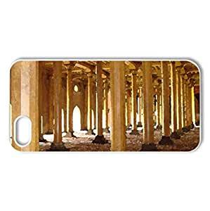 masjid - more than 200 pillars - Case Cover for iPhone 5 and 5S (Religious Series, Watercolor style, White)