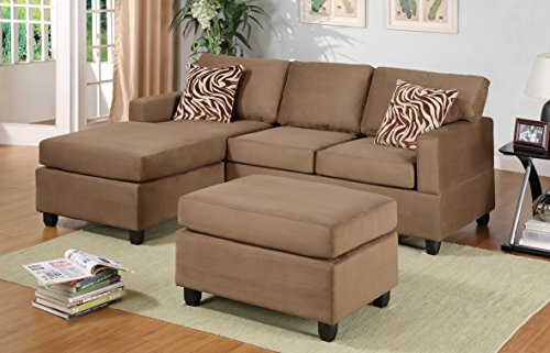 Lille Sectional Couch with Free Matching Ottoman and Accent Pillows
