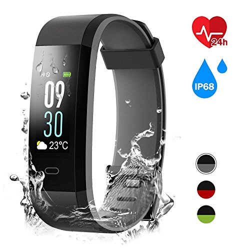 TMKEFFC Fitness Tracker, Colorful Activity Tracker with Heart Rate Monitor, IP68 Waterproof Fitness Watch with Sleep Monitor, Calories Step Counter, 14 Sport Modes, Pedometer Watch for Kids Women Men