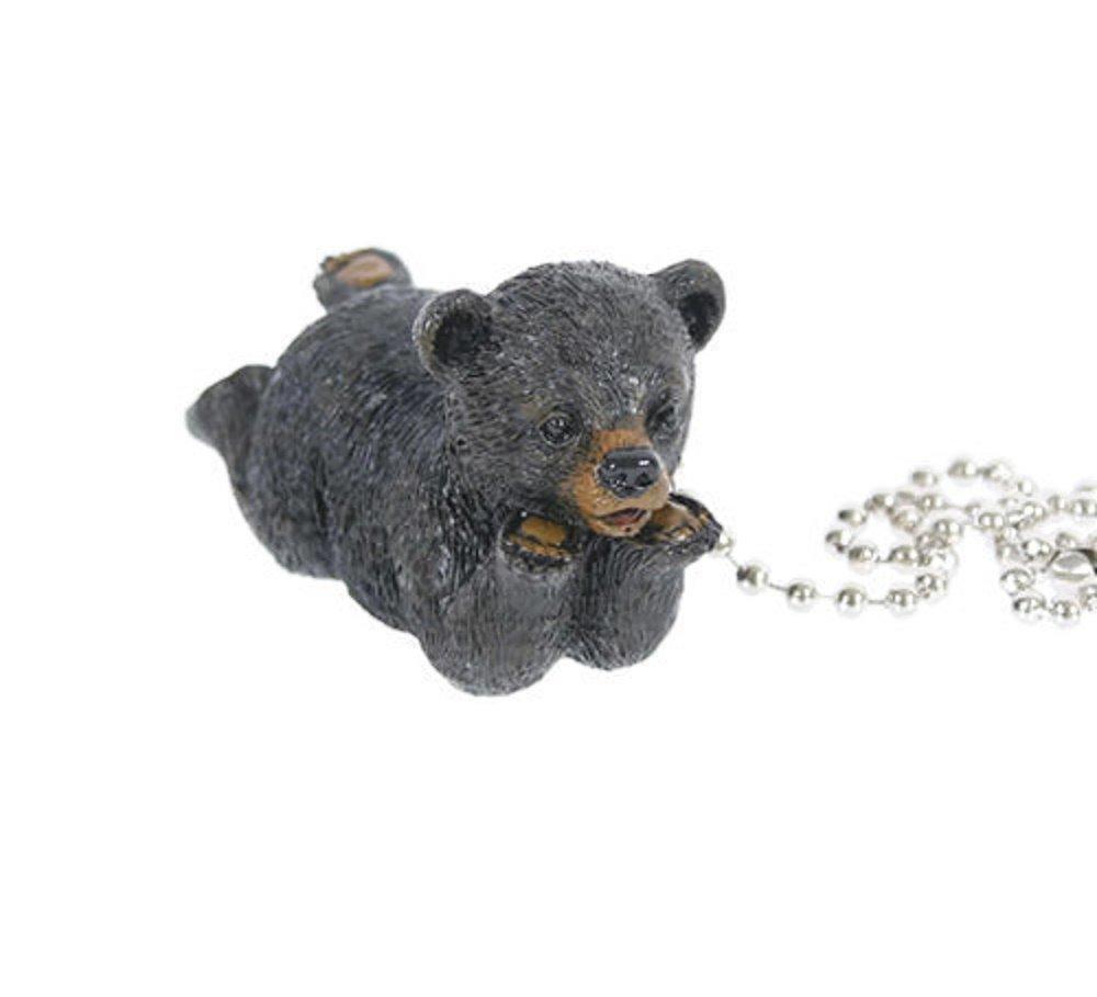 Slifka Black Bear Resin Ceiling Fan Pull Chain 10.5'' Long