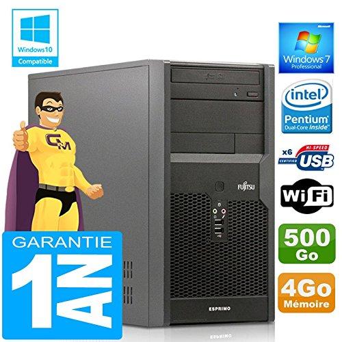 Memoria RAM de 4 GB, Disco Duro de 500 GB, Wi-Fi, W7 Ordenador de sobremesa Fujitsu PC Tour Esprimo P2560 E5500