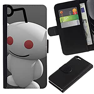 All Phone Most Case / Oferta Especial Cáscara Funda de cuero Monedero Cubierta de proteccion Caso / Wallet Case for Apple Iphone 6 // Redd1t Alien