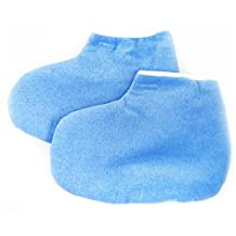 Beauties Factory Paraffin Wax Protection Leg Foot Gloves Blue Color