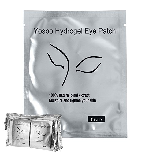 (100 Pairs Set,Under Eye Pads, Lint Free Lash Extension Eye Gel Patches for Eyelash Extension Eye Mask Beauty Tool)