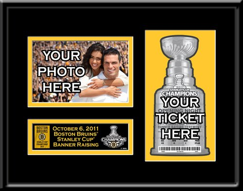 2011 Stanley Cup Champions Banner Raising 4x6 Photo Ticket Frame - Boston Bruins