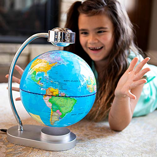 Fat Brain Toys Levitating Magnetic Globe - Levitating Illuminated Globe History & Geography for Ages 8 to 12 by Fat Brain Toys