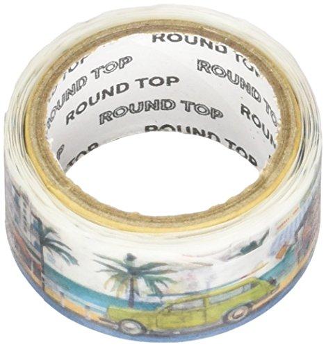 RoundTop Designer's Washi Masking Tape 20mm x 5m, Yano Design Trip & Holiday, Tropical Beach (Yd Masking Tape)