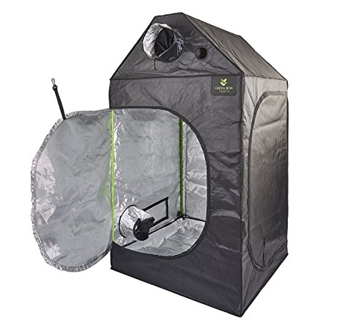 Green box Hydroponics Loft Attic Grow Roof Tent 600D Mylar Indoor Growing Room (1m x 1m x 1.6) Gardens Corner